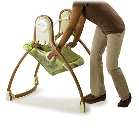 fisher price brentwood swing fisher price brentwood baby swing w wooden frame music ebay