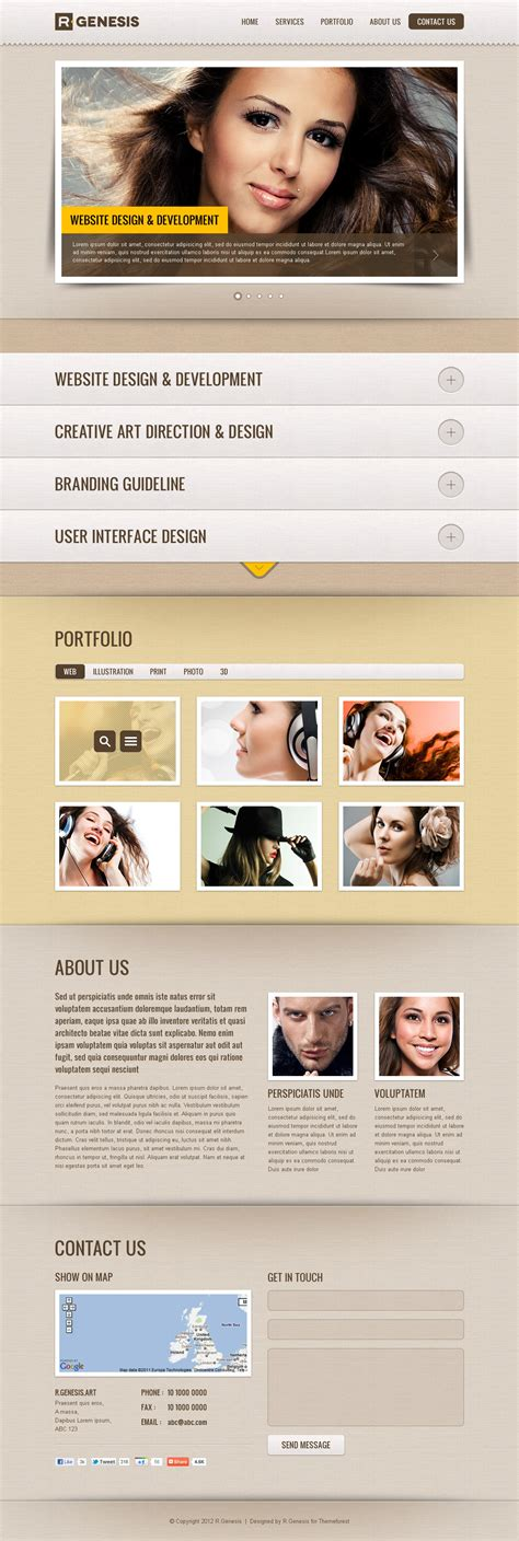 themeforest genesis r gen single page site template by r genesis themeforest