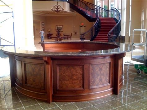 Granite Reception Desk Showcase All South Granite Llc