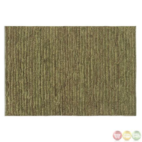 jessore washed green and brown knotted rug 70016
