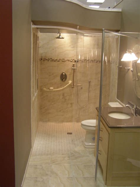 handicapped accessible and universal design showers