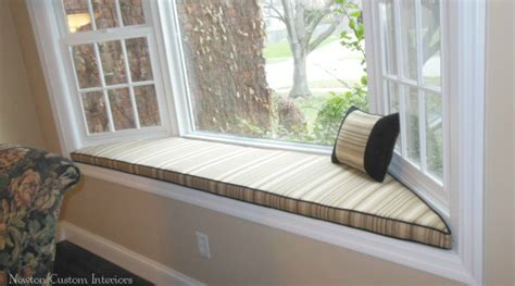 How To Decorate A Bow Window bay window seat cushion newton custom interiors