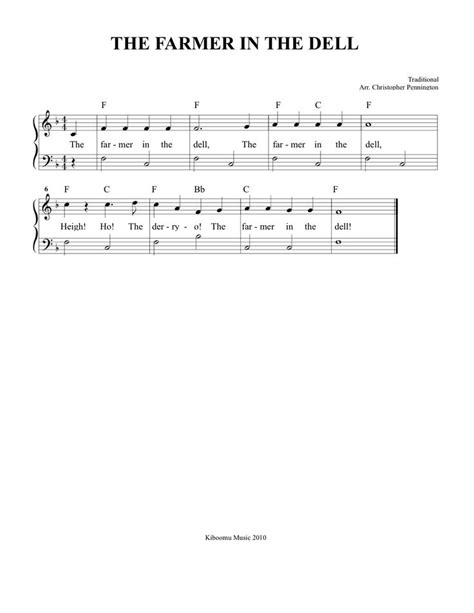 pin by kiboomu kids songs on kids songs pinterest free sheet music the farmer in the dell sheet music and