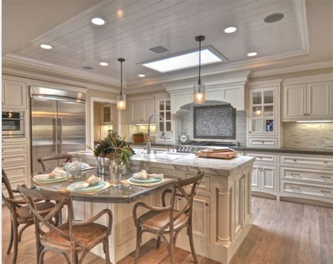 kitchen table island combo kitchen pinterest skylights kitchen tables and breakfast nooks