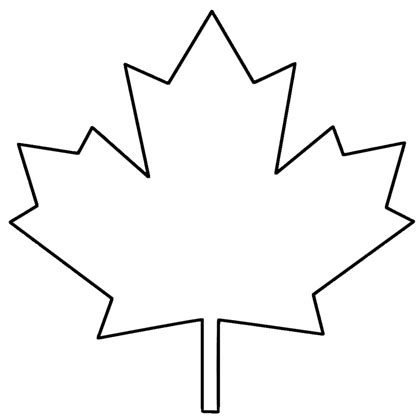 maple leaf clipart black and white 101 clip art