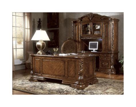 Ornate Executive Desk by Home Office Ornate Executive Computer Desk With Credenza