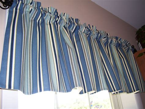 And Blue Valance Blue And Stripe Valance Home Essentials By Chriscrafts2010