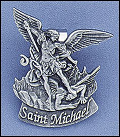 Patron Of Officers by St Michael Visor Clip For Or