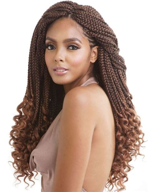 how to curl ends of box braids on natural hair mane concept afri naptural crochet curly end box braid 18
