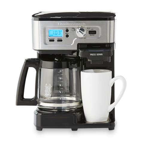 Coffee Maker upc 040094499830 hamilton two way flexbrew single