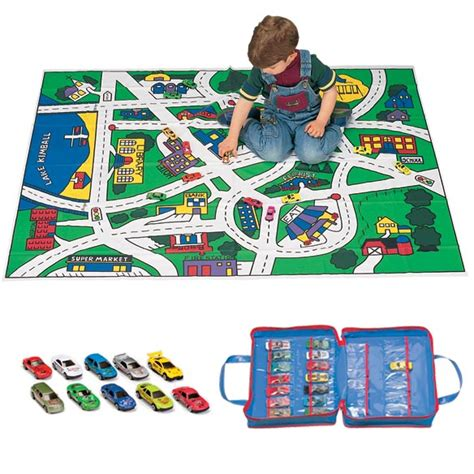 floor play mat and car set and floor play mat