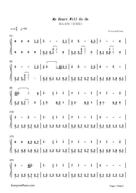 belajar kunci gitar my heart will go on not angka pianika my heart will go on belajar not angka