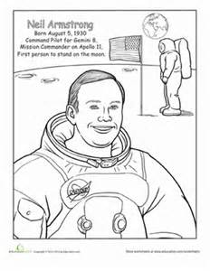 neil armstrong coloring page education com