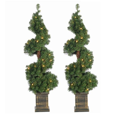sterling christmas tree lights sterling 3 5 ft pre lit potted spiral artificial