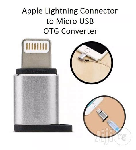 Remax Connector Otg Micro Usb Iphone micro usb to iphone lightning connector charge data sync