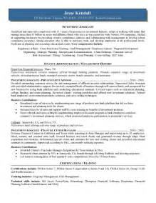 investment investment banking associate sample resume