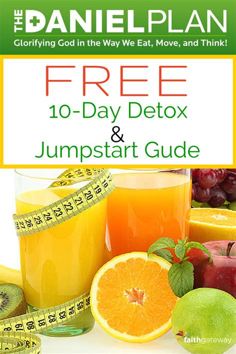 Jumpstart A Diet With Detox by Free 10 Day Danielplan Detox Jumpstart Guide 10 Day