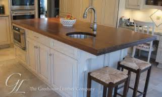 Countertop For Kitchen Island by Large Walnut Wood Countertop Kitchen Island In New Jersey