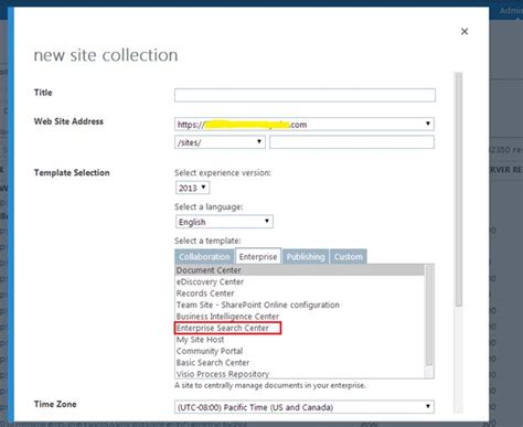 Create Enterprise Search Center Site Collection In Sharepoint 2013 Online Sharepoint 2013 Requirements Gathering Template