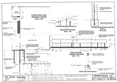 veranda dwg mangatoatoa project log 3 the plans