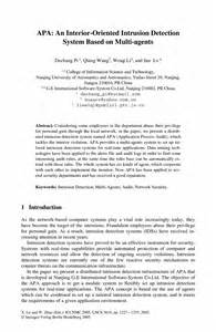 Sle Abstract For Research Paper Apa by Apa An Interior Oriented Intrusion Detection System Based On Multi Agents Springer