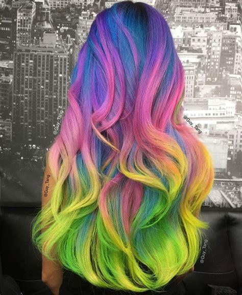 unicorn hair tutorial unicorn hair by tang rainbow hair colour