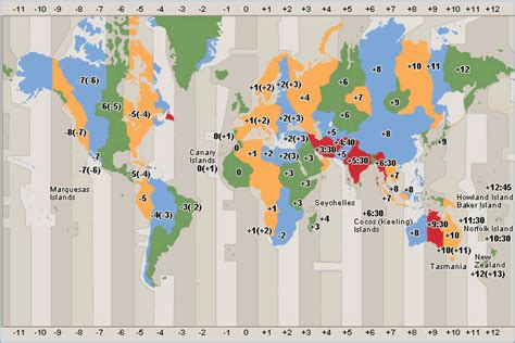 world cities time zone map world clock map and time zone map