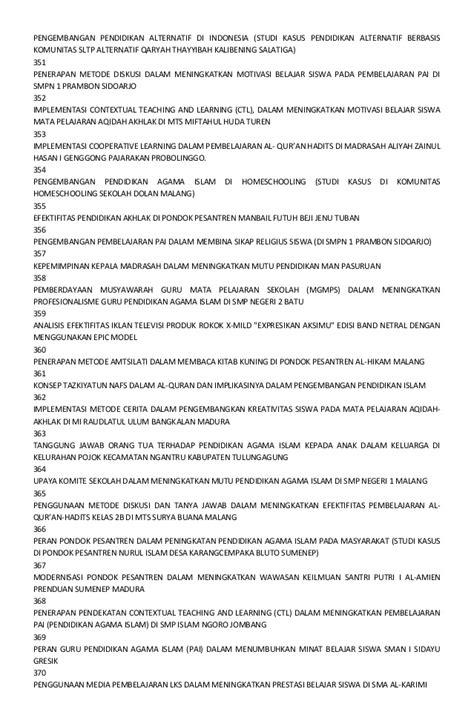 Cooperative Learning By Miftahul Huda Mpd daftar judul skripsi
