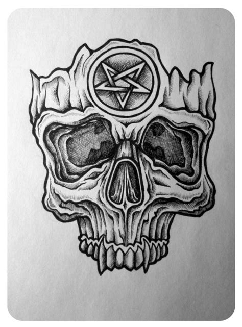 satan skull by sparc666 on deviantart
