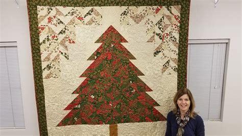 make a rag strip christmas tree tannenbaum tree quilt