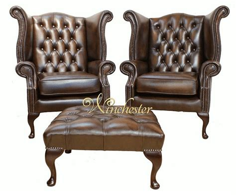 carlton chesterfield library reading wing back chair chesterfield offer pair queen anne high back wing chair