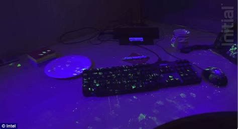 black light and germs shows the speed at which germs spread around an