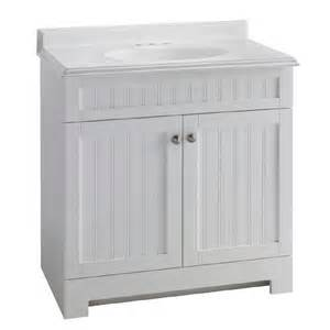 White Vanity At Lowes Shop Estate By Rsi Boardwalk White 31 In Integral Single