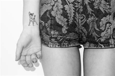 bambi wrist tattoo