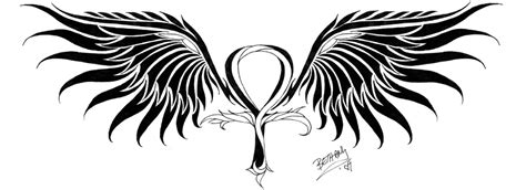 large tattoo designs large winged ankh design for tattooshunt
