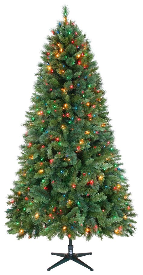 jaclyn smith christmas tree smith 7 5ft houston mixed pine tree with multi colored lights
