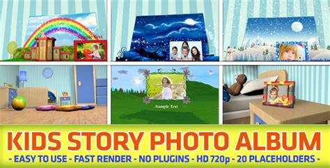 Kids Story Photo Album By Black Motion Videohive Baby Photo Album After Effects Project Template Free