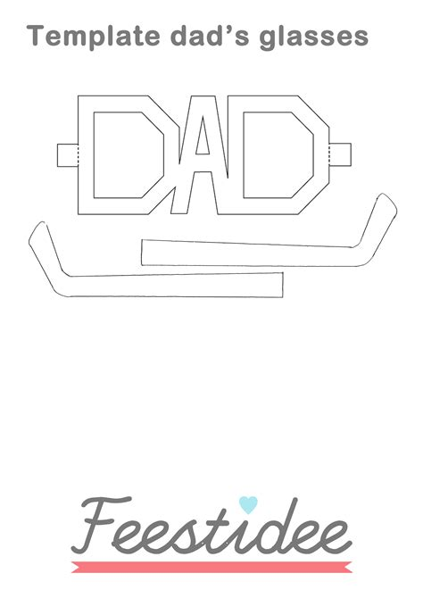 S Day Card Cut Template by S Day Glasses Ideas To