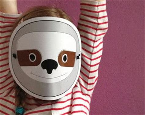 sloth masks for kids sloth mask for children pdf print