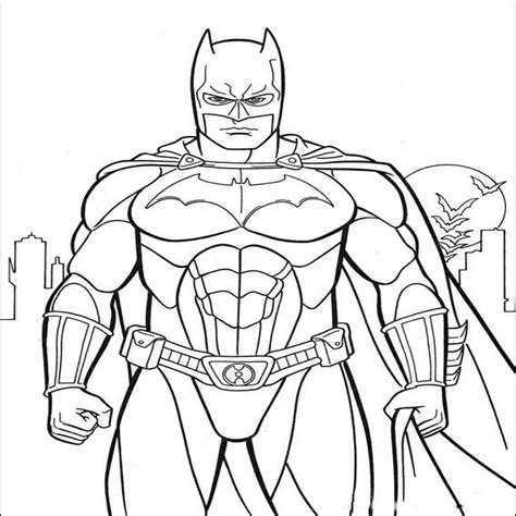 batman coloring pictures pages for kids coloring cartoons