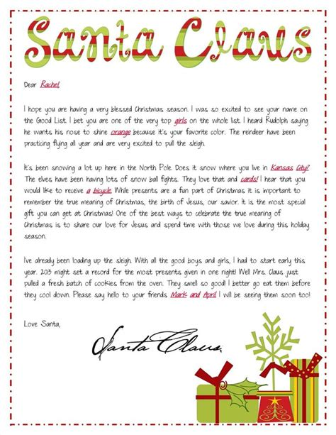 free printable religious letter from santa religious focused santa letters personalized letter from