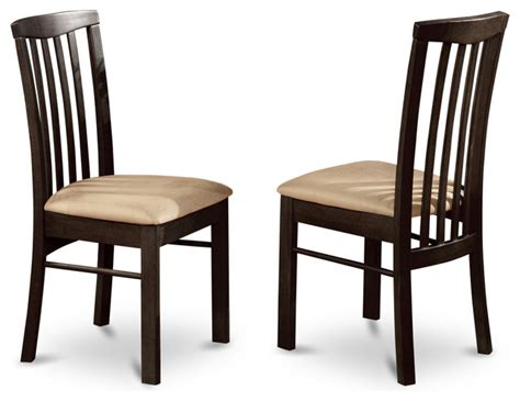 transitional dining room chairs set of 2 hartland dining room chair cushioned seat with cappuccino finish transitional