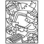crayola coloring page ornament christmas free coloring pages crayola com
