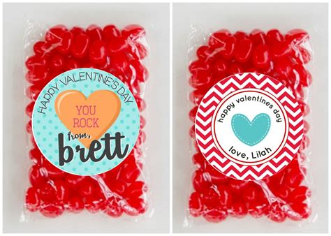 custom valentines personalized valentines stickers bags only 6 95