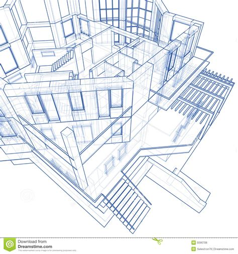 blueprint drawing free house architecture blueprint royalty free stock image image 5590706