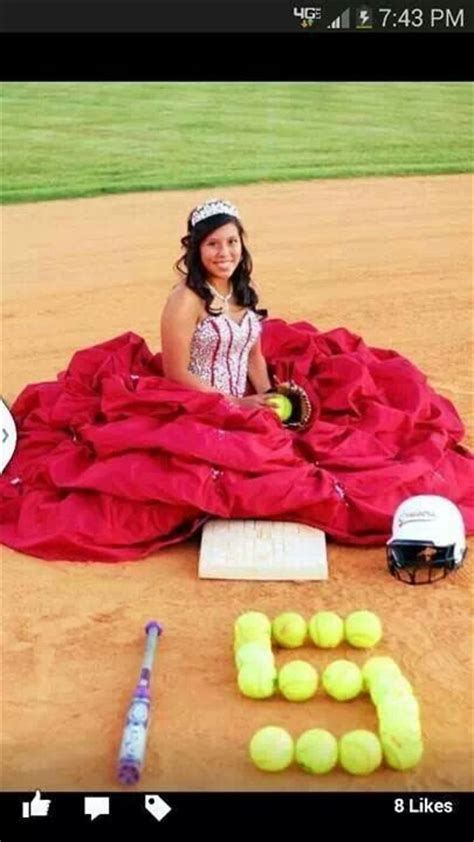 cute themes for quinces softball themed quince pictures quinceanera ideas