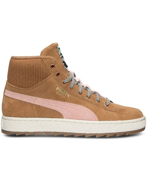 suede rugged s suede winterized rugged mid casual sneakers from finish line in brown lyst