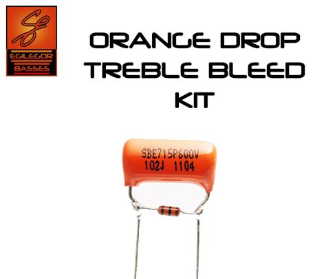 capacitor value for treble bleed orange drop treble bleed kit for guitar telecaster stratocaster les paul ibanez ebay