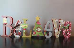christmas decoration believe decorated wooden letters