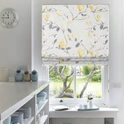 Print Roman Shades - floral blinds with eastern promise web blinds